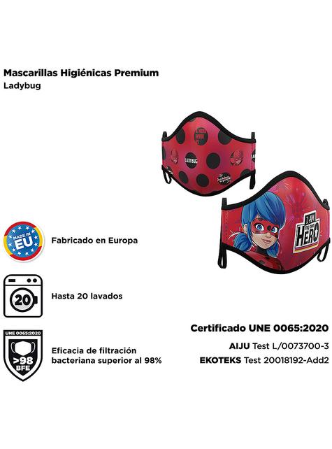 Mascarilla de Ladybug infantil (2 unidades)