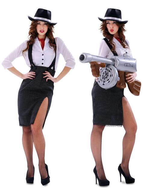Disfraz de gángster para mujer - original