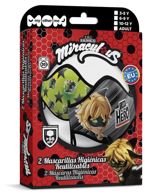 Mascarilla de Cat Noir infantil (2 unidades) - Las Aventuras de Ladybug