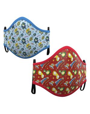 Máscara de Super Zings infantil azul e vermelha (2 unidades)