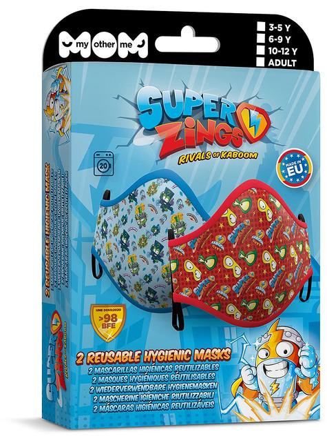 Mascarilla de Super Zings infantil azul y roja (2 unidades)