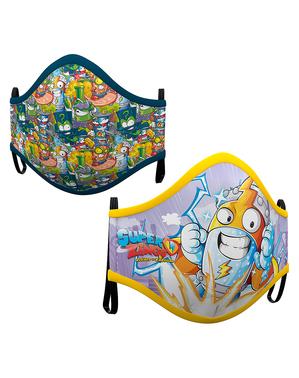 Mascarilla de Super Zings infantil (2 unidades)