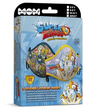 Mascherina Super Zings per bambini (2 unità)