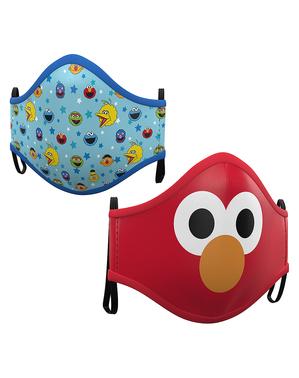 Sesamstraße Mund-Nasen-Maske für Kinder (2 Stück)