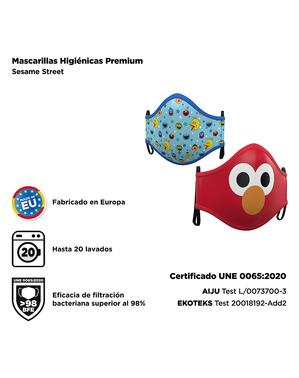 Mascarilla de Barrio Sésamo infantil (2 unidades)