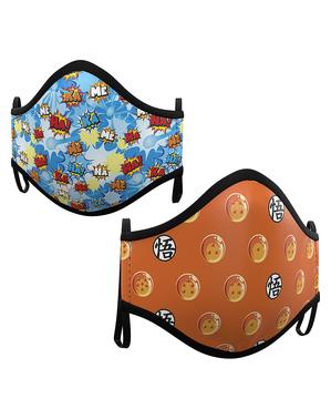 Dragon Ball Mund-Nasen-Maske für Kinder (2 Stück)