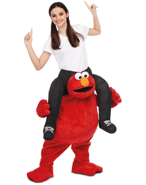 Déguisement Elmo Sésame Street porte-moi adulte