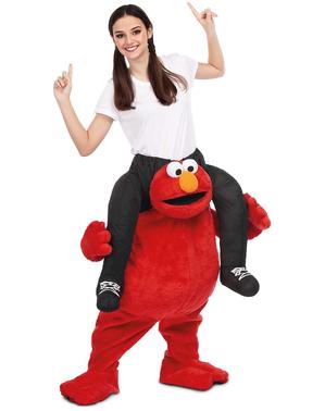 Disfraz de Elmo Barrio Sésamo ride on para adulto
