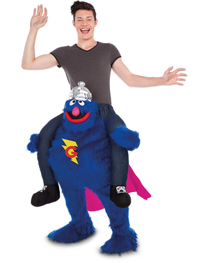 Grover Sesame Street Ride On Costume for Adults
