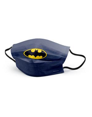 Zwart Batman gezichtsmasker voor volwassenen