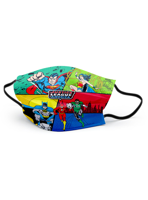 The Justice League Face Mask for Boys