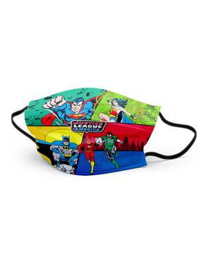 A Justice League Face Mask for Boys