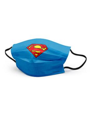 Blå stålmannen ansiktsmask för pojkar