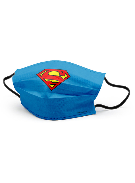 Mascarilla Superman azul para adulto