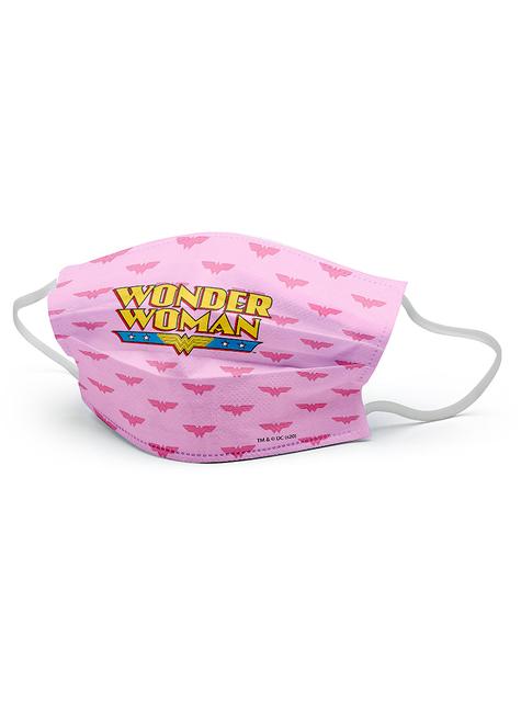 Wonder Woman Pink Face Mask for Girls