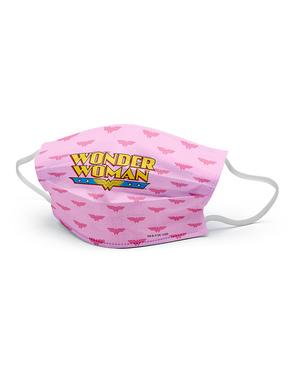 Wonder Woman Mund-Nasen-Maske rosa für Mädchen