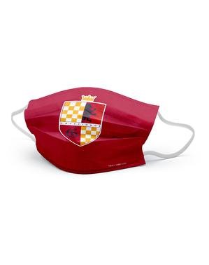 Gryffindor Våbenskjold Ansigtsmaske til Børn - Harry Potter