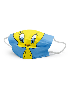 Tweety Face Mask for Adults - Looney Tunes