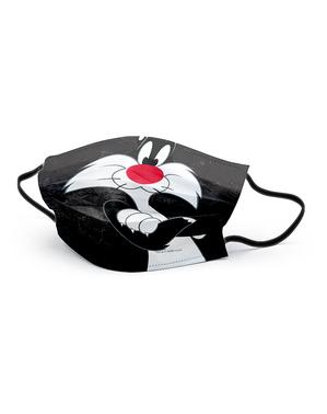 Maseczka Kot Sylwester dla dzieci - Zwariowane melodie