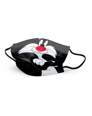 Maseczka Kot Sylwester dla dorosłych - Zwariowane melodie