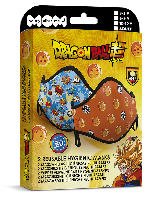 Maseczka Dragon Ball dla dorosłych (2-pak)