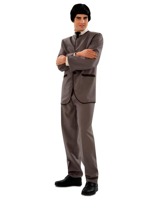 Disfraz de cantante inglés de los 60 para hombre