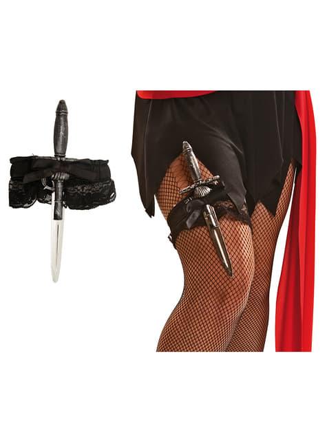 Poignard porte jarretelle pirate femme