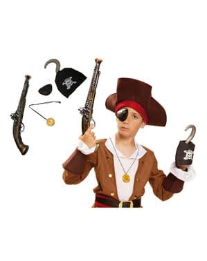 Kit de pirata de los siete mares para niño