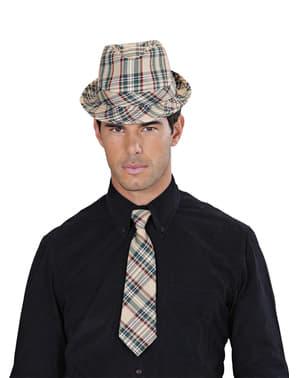 Cravată în carouri pentru adult