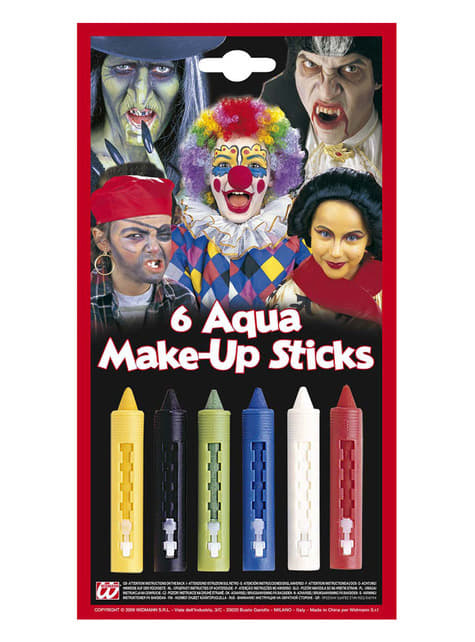 6 Barras de maquillaje multicolor