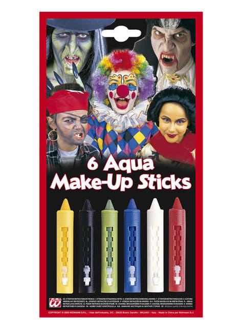 6 Makeup Stokjes in geassorteerde kleuren