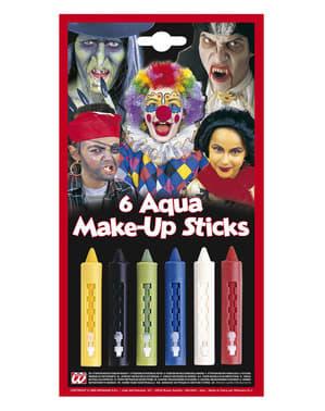 6 meikkipuikkoa valikoiduissa väreissä