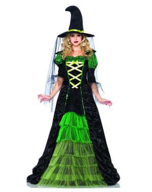 Costum de vrăjitoare rea din poveste pentru femeie