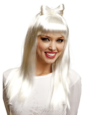 Lady Gaga Wig with Bow