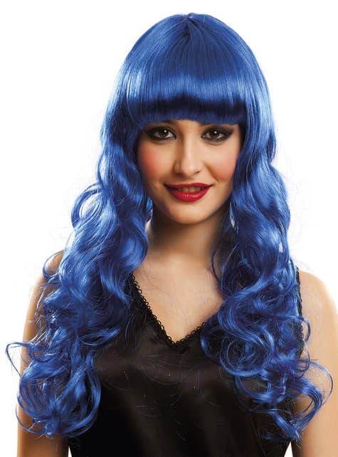 Blauwe Katy pruik voor vrouw