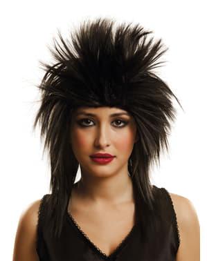 Czarna peruka rockowa dla dorosłych