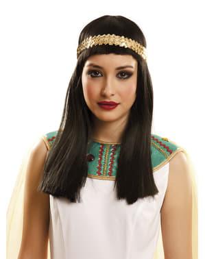 Peluca de reina egipcia para mujer