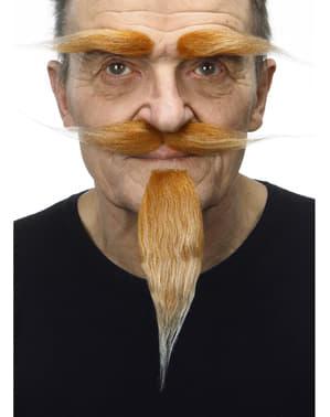 Cejas, bigote y perilla rubia para hombre