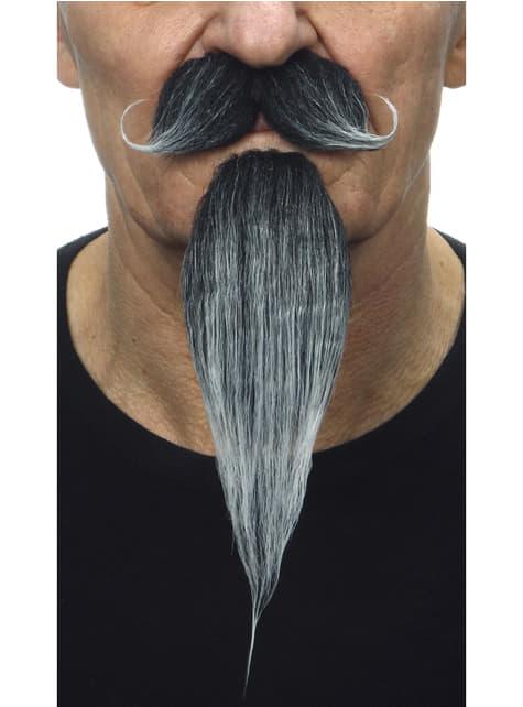 Musketeer fúzy s kozou bradou