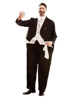 Fato de cantor de ópera gordinho para adulto