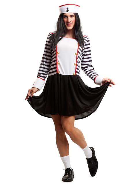 Man's Little Sailor Girl Costume