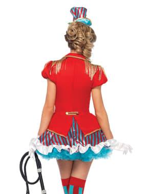 Fato de domadora de circo deslumbrante para mulher
