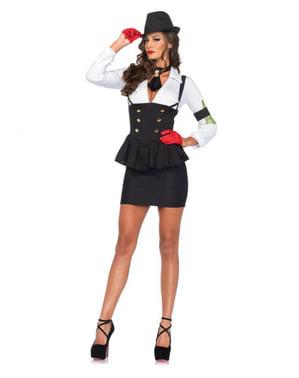 Sexy Gangster Kostyme Dame