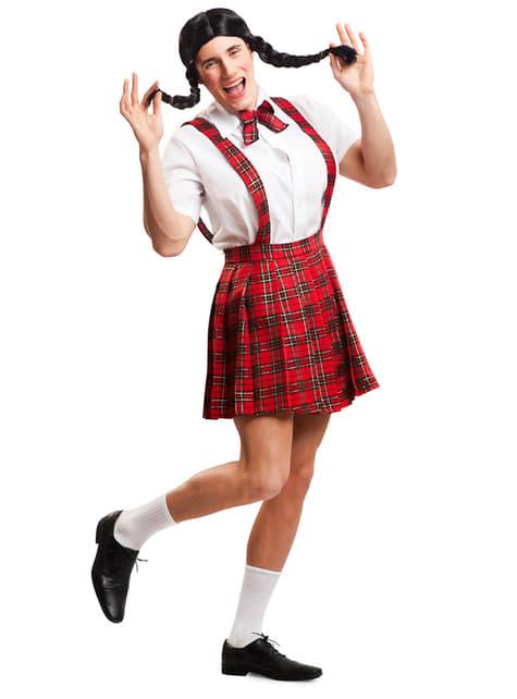 Men's Schoolgirl Costume