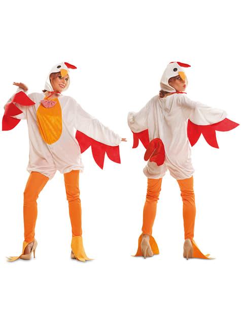 Fato de galinha poedeira para mulher