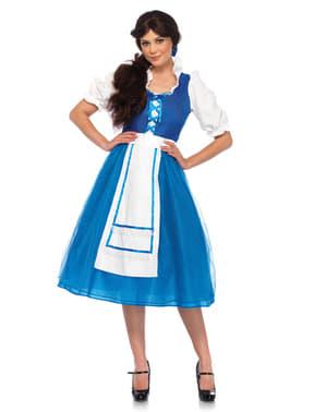Fato de camponesa azul para mulher