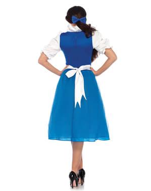 Déguisement paysanne bleu femme