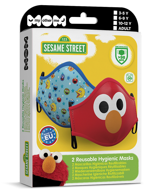 Sesame Street Face Mask for Adults (2 pack)
