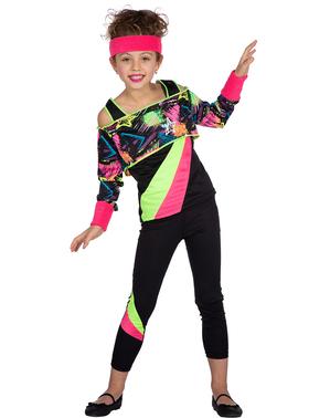 Costume anni 80 aerobica per bambina