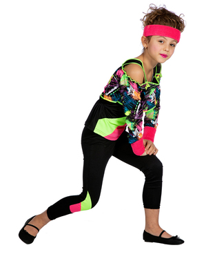 Fato anos 80 ginástica para menina